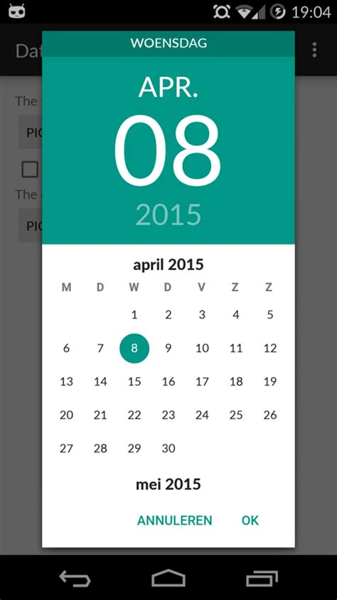 how to select year in datepickerdialog android? - Stack
