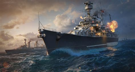 Try a German Cruiser and a Soviet Destroyer in World of
