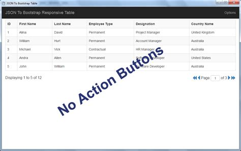 JSON To Bootstrap Table - jQuery Plugin by NajmulIqbal15