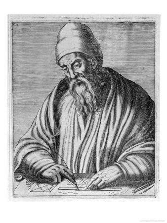 'Euclid Mathematician of Alexandria' Giclee Print - Andre