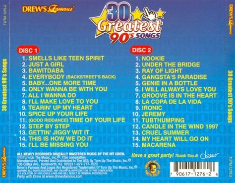 Drew's Famous 30 Greatest 90s Songs - Various Artists