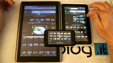 Android Browser test: Tablet vs Smartphone ITA - YouTube