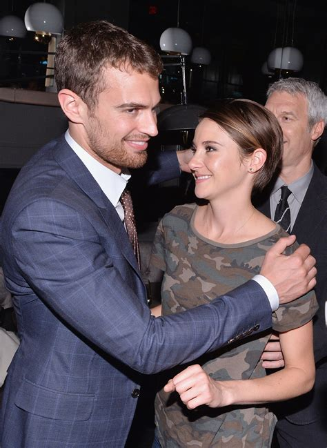Theo James and Shailene Woodley hugged it out at Marie