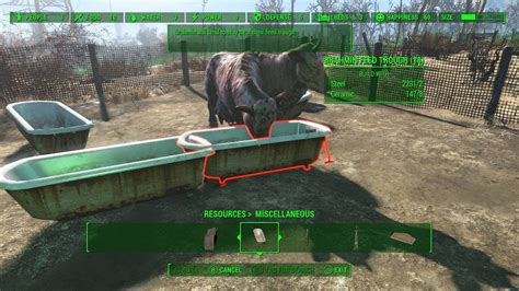 fallout 4 - Is there any way to move a brahmin away from a