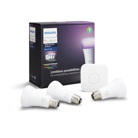 Philips Hue White and Colour Ambiance Smart Bulb STARTER
