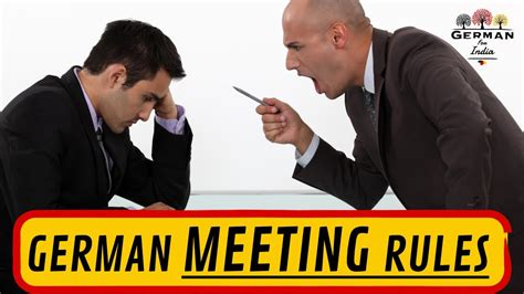 GERMAN WORK CULTURE - MEETING RULES you HAVE TO KNOW