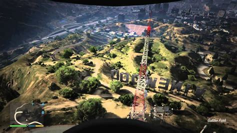 GTA V - Free Fall Through Vinewood Sign - 1st Person - YouTube
