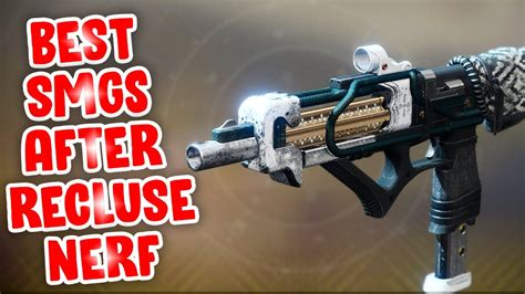 TOP 5 SMGs AFTER RECLUSE NERF - Destiny 2 Season of Dawn