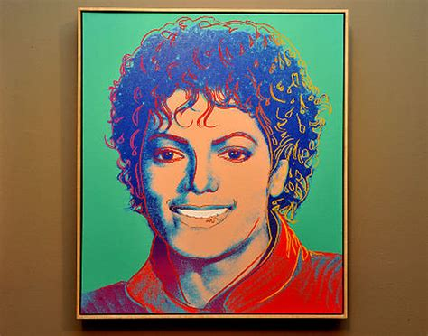 Andy Warhol 1984 portrait of Michael Jackson up for