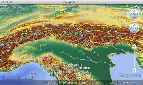 Maps-For-Free Relief in Google Earth