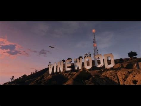 GTA 5 Gameplay - The Vinewood Sign and Concert Stadium