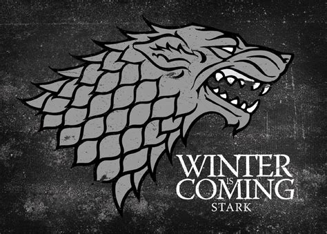 Game of Thrones Winter is Coming Stark Logo Giclee