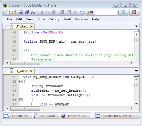 Help Online - Code Builder - Working with the Text Editor