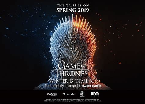 A new Game of Thrones browser game is coming next spring!