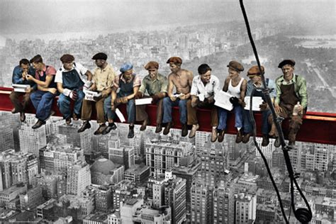 Lunch atop skyscraper Poster   Sold at Europosters