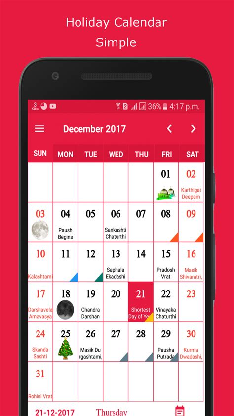 Android Calendar by WRTeam | CodeCanyon